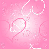 Seamless pink background with hearts Royalty Free Stock Photo