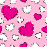 Seamless pink background with hearts. Seamless pink background with pink and white hearts Royalty Free Stock Images