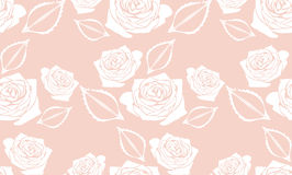 Seamless pink background with stylized roses Royalty Free Stock Photos