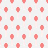 Seamless pink balloon pattern. On dark black background. Vector Illustration Royalty Free Stock Images