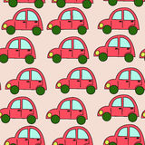 Seamless pink car pattern Royalty Free Stock Photo