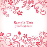 Seamless pink cherry blossom frame. Illustration Royalty Free Stock Photography