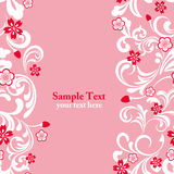 Seamless pink cherry blossom frame Royalty Free Stock Image