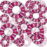 Seamless with pink circles Stock Images
