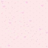 Seamless pink color tone with Heart pattern Royalty Free Stock Photos