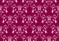 Seamless pink damask background Stock Photography