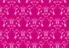 Seamless pink damask background. Seamless vintage beauty pink damask background royalty free illustration