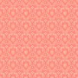 Seamless Pink Damask Background Stock Photo