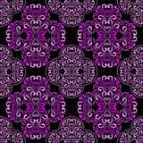 Seamless pink damask Pattern on black for design. Stock Photo