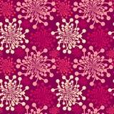Seamless pink dandelions Royalty Free Stock Image