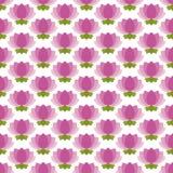 seamless pink för blommalotusblommamodell stock illustrationer