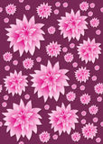 Seamless pink floral stock photo