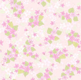 Seamless  pink  floral  background. Seamless  pink and violet floral  background Stock Photography