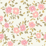 Seamless pink floral  background Stock Image