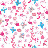 Seamless pink floral pattern Royalty Free Stock Photo
