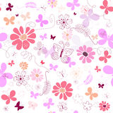 Seamless pink floral pattern Royalty Free Stock Images