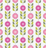 Seamless pink floral pattern Stock Images