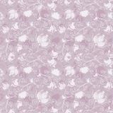 Seamless pink floral pattern Stock Photography