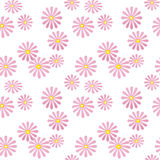 Seamless pink floral pattern on white Stock Images