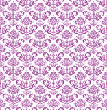 Seamless pink floral wallpaper on white Royalty Free Stock Image