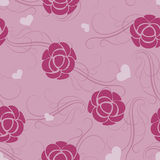 Seamless pink flower pattern. Royalty Free Stock Images