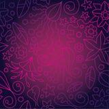 Seamless Pink Flower Wallpaper Stock Images