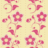 Seamless pink flowers background. Royalty Free Stock Photography