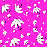 Seamless pink flowers Stock Photography