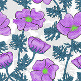 Seamless pink flowers pattern background Royalty Free Stock Photography