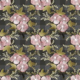 Seamless pink flowers pattern on checkered background Stock Image