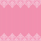 Seamless pink frame/border Royalty Free Stock Photos