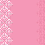 Seamless pink frame/border Royalty Free Stock Photo