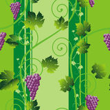 Seamless pink grape pattern Royalty Free Stock Images