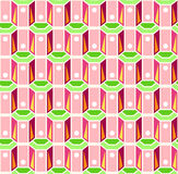 Seamless pink and green retro pattern Stock Image