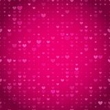 Seamless pink heart background Stock Photo