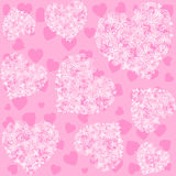Seamless Pink Heart Pattern Royalty Free Stock Photos