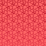 Seamless pink heart pattern Stock Image
