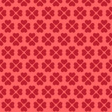 Seamless pink heart pattern. On red background Stock Photo