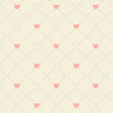 Seamless pink heart pattern Stock Photography