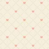 Seamless pink heart pattern. On light background Stock Photography