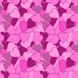 Seamless pink heart pattern Stock Photos