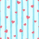Seamless pink heart pattern. Love illustration. Idea for print t-shirt. stock illustration