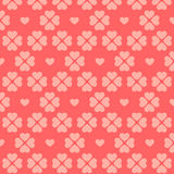 Seamless pink heart pattern. Royalty Free Stock Image