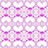 Seamless Pink Hearts Background Texture vector illustration