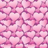 Seamless pink hearts pattern Royalty Free Stock Images