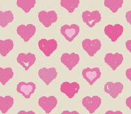 Seamless pink hearts pattern, Valentine's day concept. Stock Photography