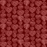 Seamless pink hearts vertical pattern Royalty Free Stock Photography