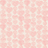 Seamless pink hearts vertical pattern Royalty Free Stock Photos