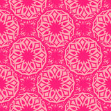 Seamless pink ornament Stock Photography