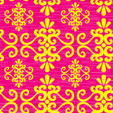 Seamless pink ornament pattern Royalty Free Stock Photos
